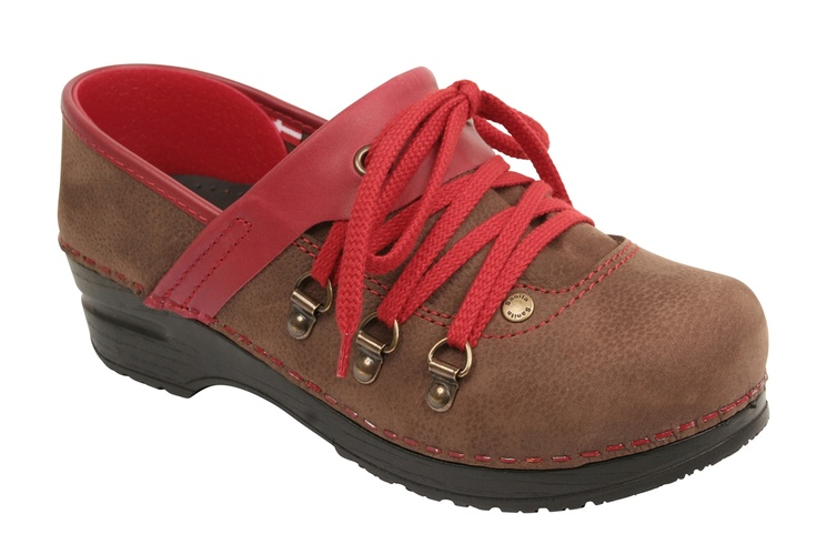 Cute Hiking Boot Clogs Sanita Xyla In Antique Brown