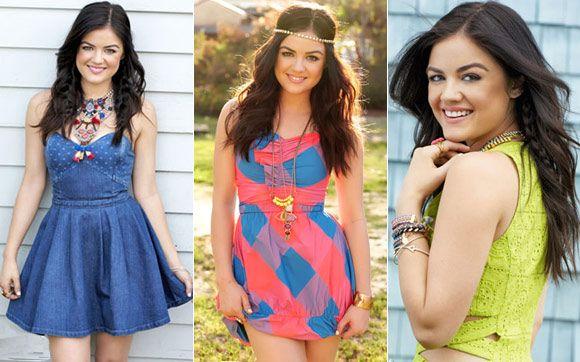Lucy Hale abusa de looks coloridos para a revista Seventeen!