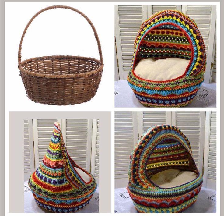 DIY crochet cat basket simple y perfecto para cualquier gato – hhundee   – Katzen