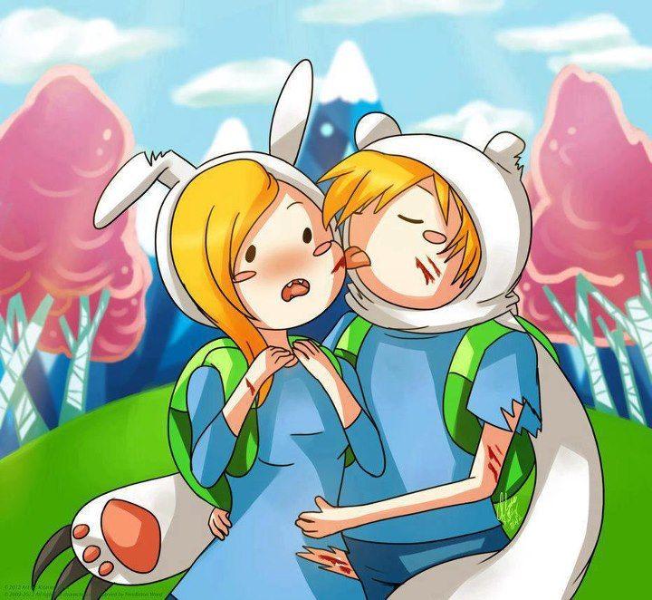 adventure time fionna and finn kiss wwwimgkidcom the