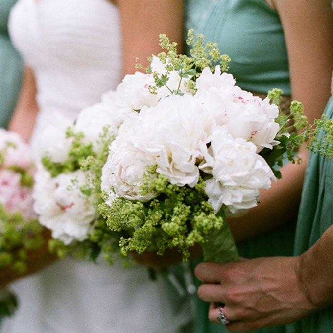White Peony Bridesmaid Bouquet https://www.facebook.com/ChloesCreationsFlorist?ref=hl