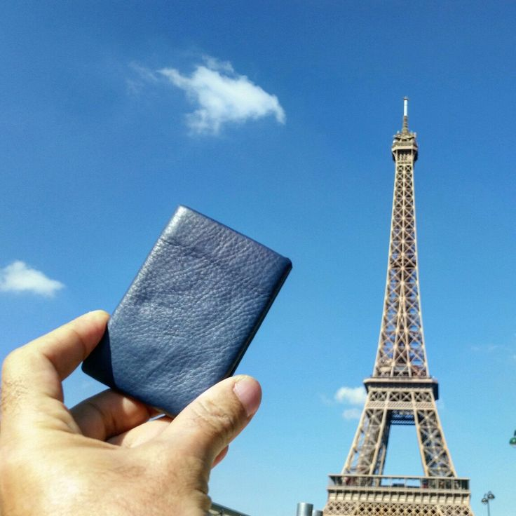Nero Wallet - Blue Marino Leather - Paris