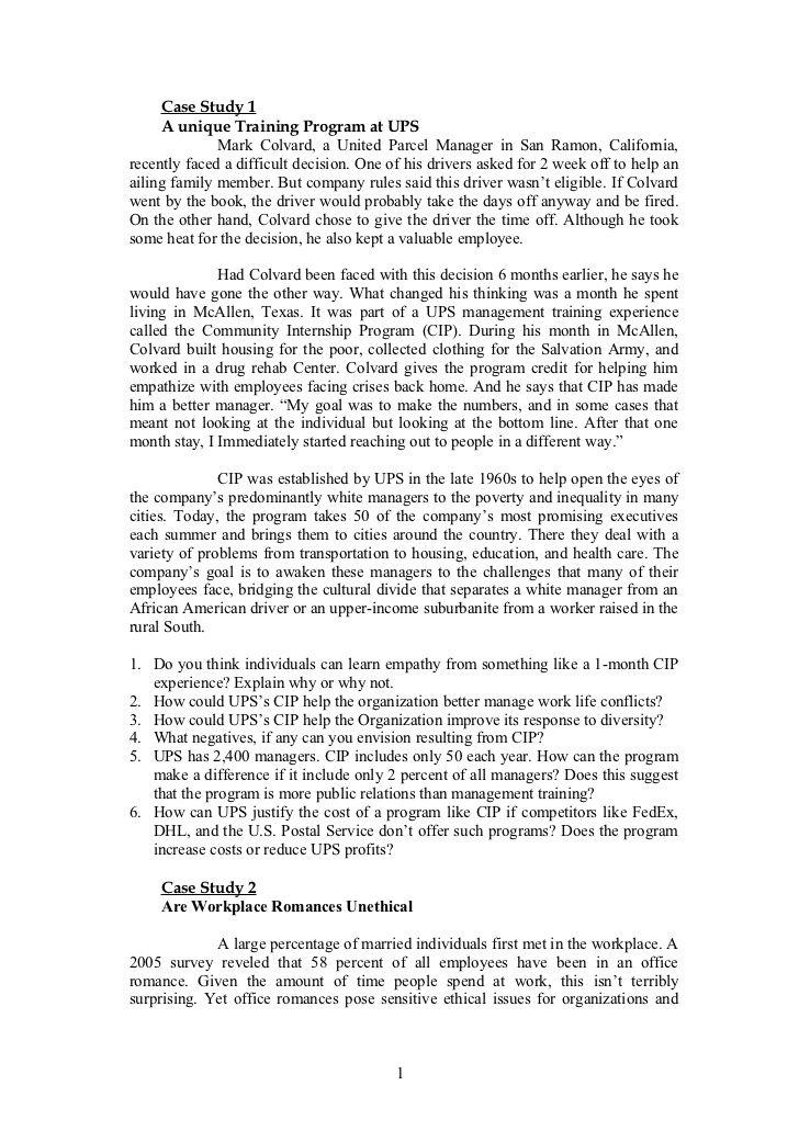 Organizational Behavior Case Stu S