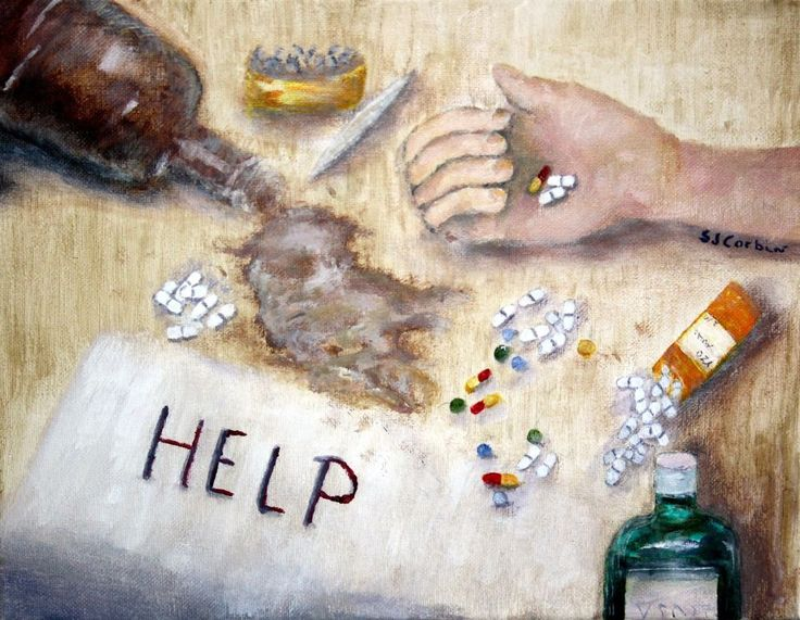 As a Substance Abuse Counselor, inspired my Addiction Series Alcohol & Drug Substance Abuse Art #Impressionism