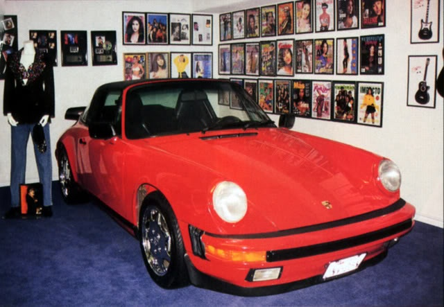 Selena's famous Porsche, which now lives in the Selena museum in Corpus Christi