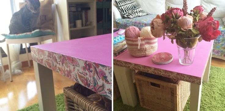 Un estilo completamente renovado para una mesa Lack de Ikea