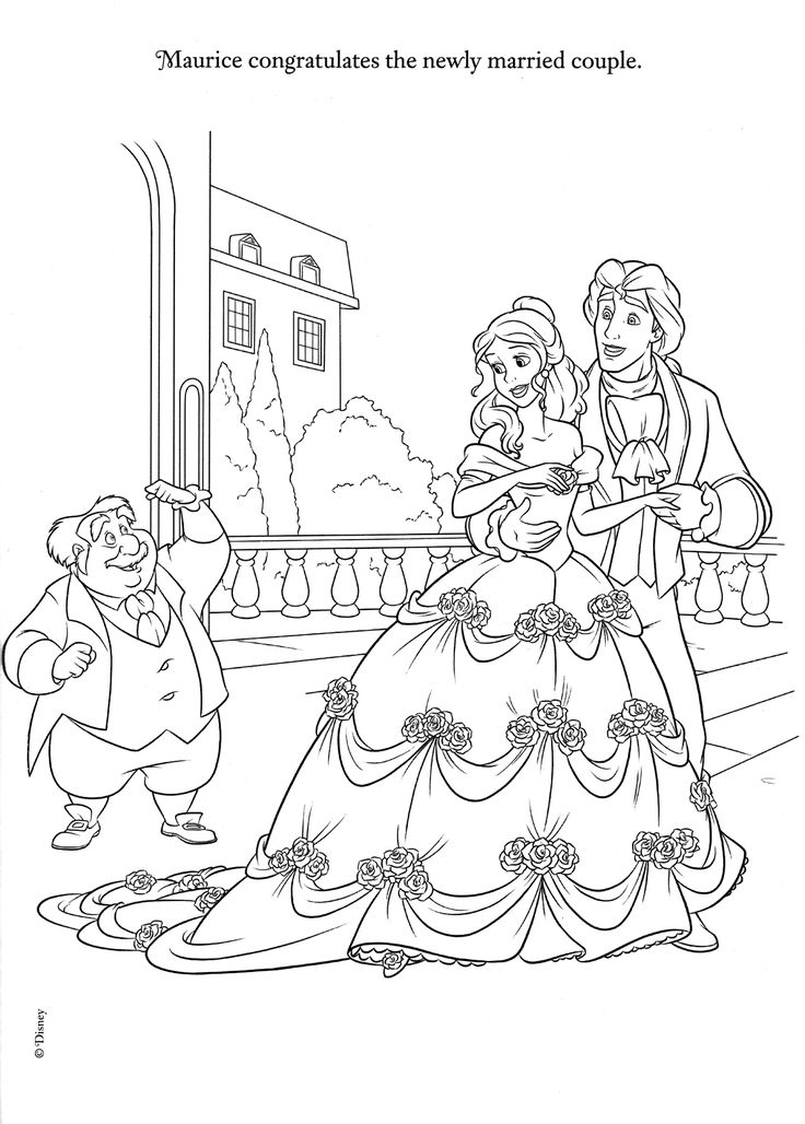 disney wedding coloring pages - photo#16