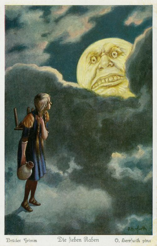 Raben 3 Herrfurth 500x785 - Postcard Illustrations by Oskar Herrfurth - Wikimedia Commons