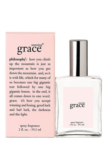 Amazing Grace perfume by Philosophy is my favorite scent to wear, especially when combined with the shower gel and body emulsion. Plus, when you take your shirt off at the end of the day, you'll  just want to bury your face in it... makes for the best smelling dirty laundry ever. Light, super clean, and feminine scent.