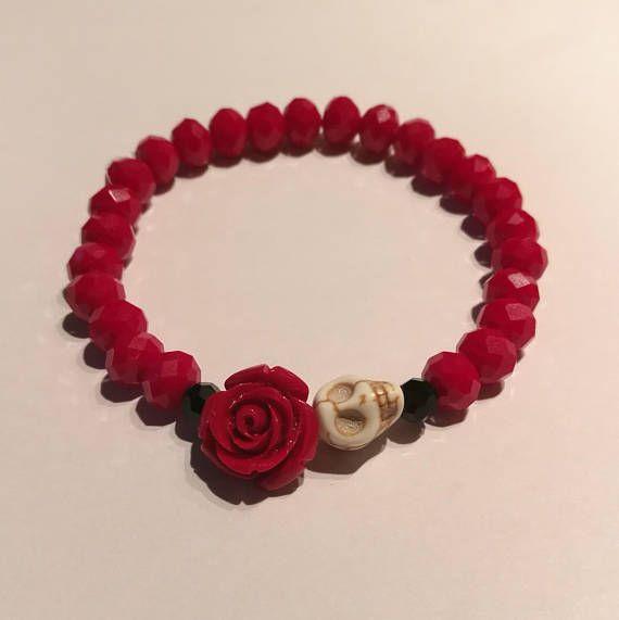Skull & rose bracelet
