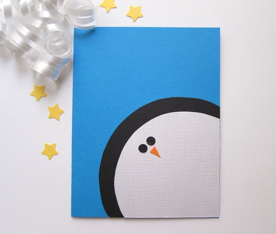 480 best penguin party images on pinterest winter activities for easy to make penguin christmas cards solutioingenieria Images