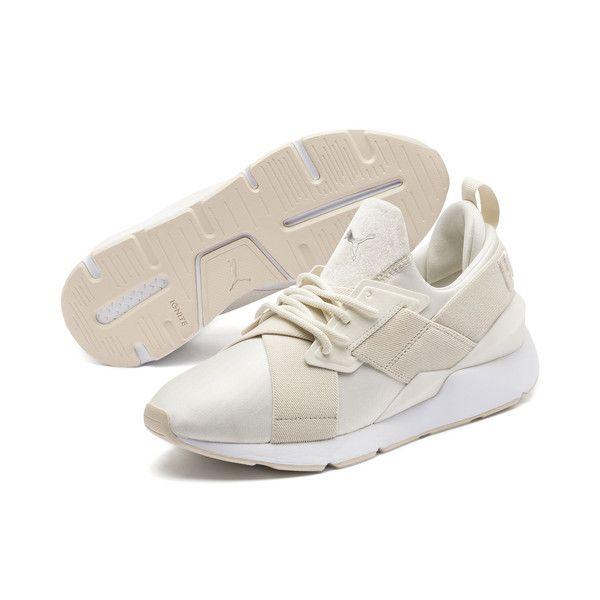 Image 1 of Muse Satin II Women's Sneakers, Whisper White ...