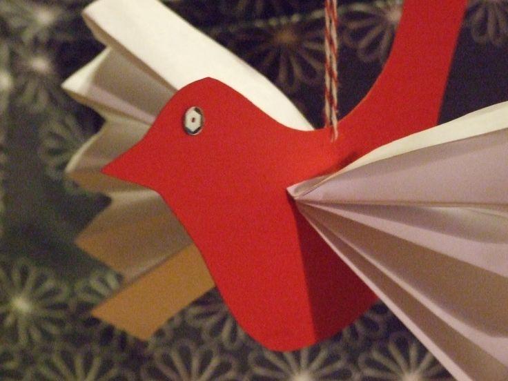 paper birdieAdvent, Crafts Ideas, Christmas Crafts, Birdie Crafts For Kids, Christmas Paper Crafts, Birds Paper, Construction Paper, Paper Birdie, Birds Crafts