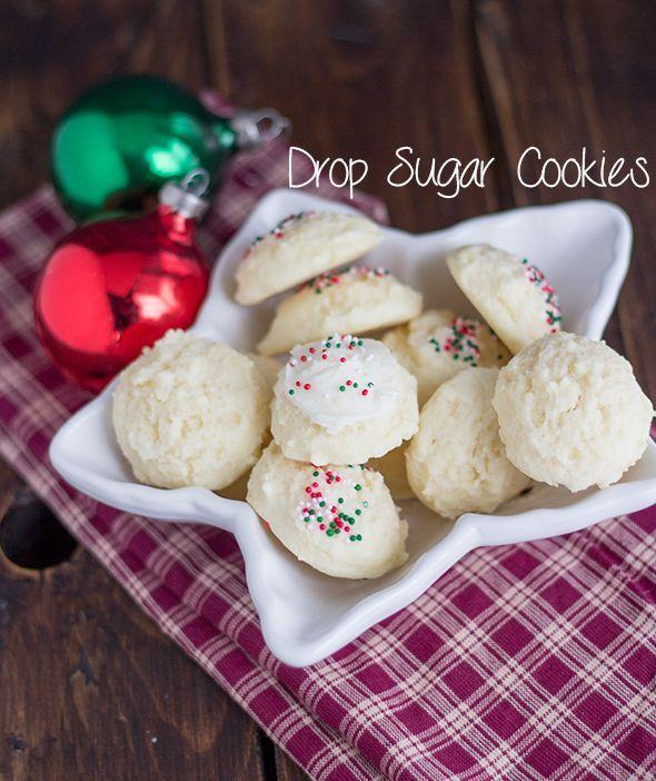 Holiday Drop Sugar Cookies | Cookie Dough & Oven Mitt