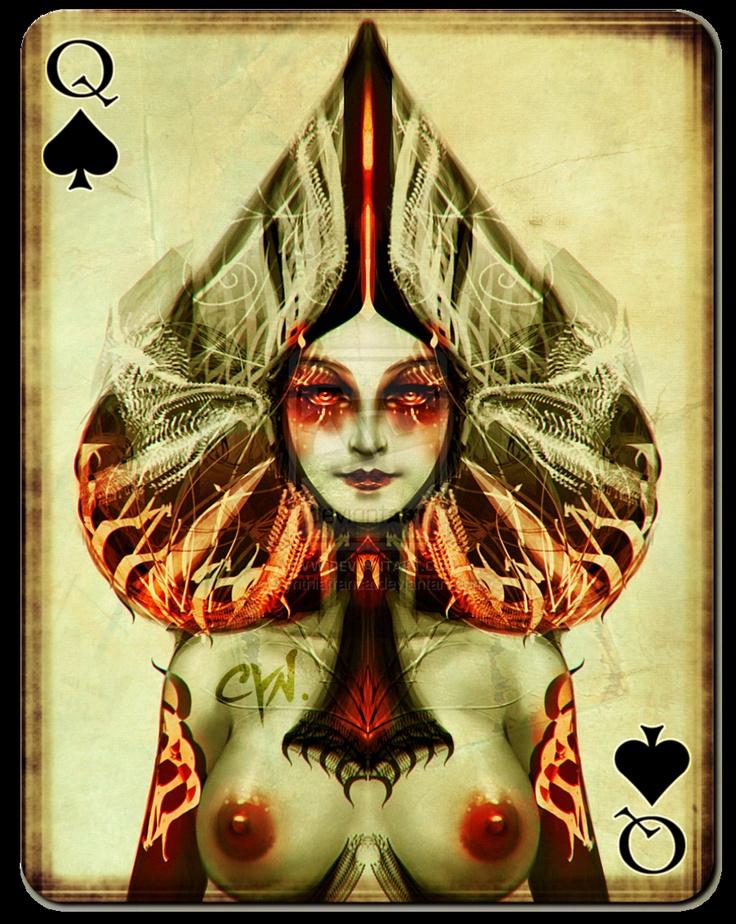 Картинки пиковая дама карты