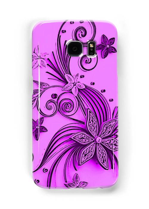 Pink and purple, floral design by cool-shirts Also Available as T-Shirts & Hoodies, Men's Apparels, Women's Apparels, Stickers, iPhone Cases, Samsung Galaxy Cases, Posters, Home Decors, Tote Bags, Pouches, Prints, Cards, Mini Skirts, Scarves, iPad Cases, Laptop Skins, Drawstring Bags, Laptop Sleeves, and Stationeries #samsung #galaxy #cases #skins #trending