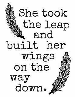 She took the leap and built her