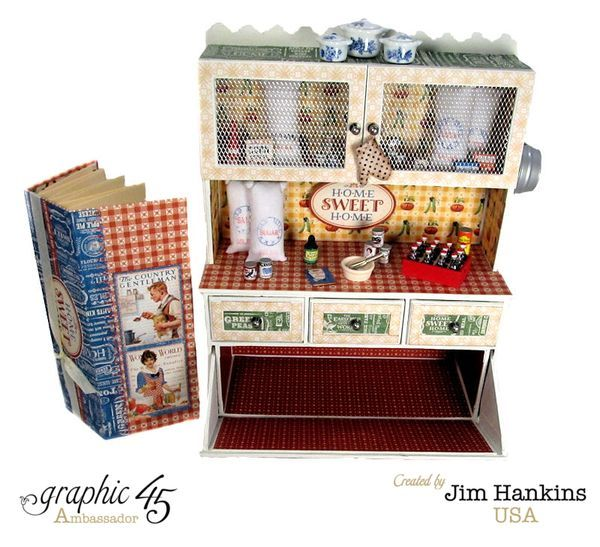 Gotta love the hidden mini in this awesome Home Sweet Home hutch by Jim, the Gentleman Crafter! #graphic45