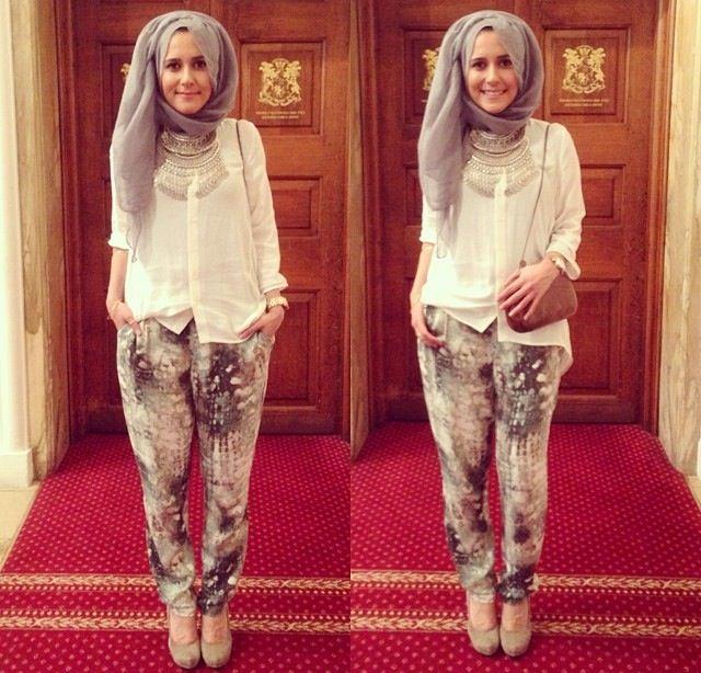 Love this hijab outfit by Dina Tokio