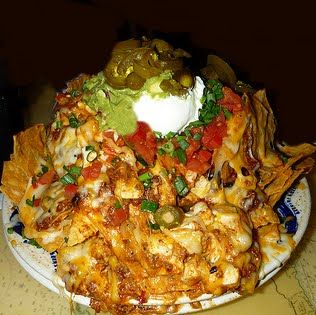 Margaritaville Volcano Nachos, these were killer at the Margaritaville in Newport Beach back in the day