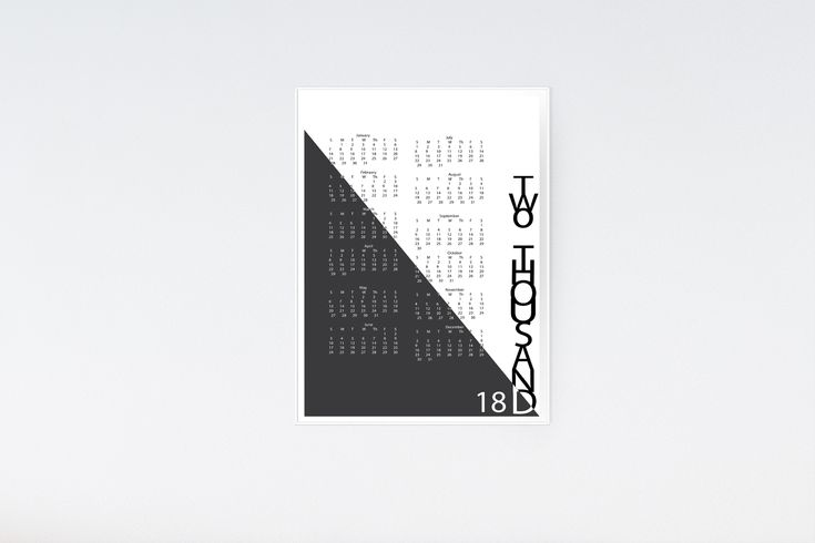 TWO TONED 2018 CALENDAR BLACK