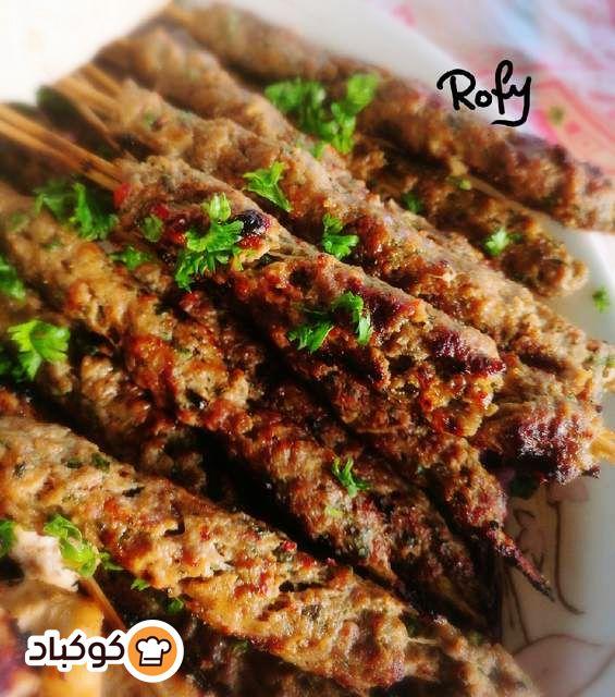 كباب لحم مشوي على الفحم بنكهة مميزة بالصور من روفي Recipe Vegetables Food Asparagus