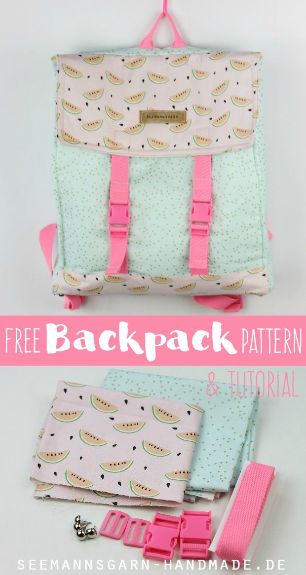 Free Backpack Pattern & Tutorial | Seemannsgarn                                                                                                                                                     More