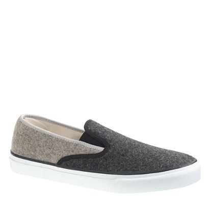 SPERRY TOP-SIDER® FOR J.CREW WOOL SLIP-ON SNEAKERS $70: Wool Sweaters, Wool Slip On, J Crew Wool, Men Sperry, Men'S, Men Shoes, Shoes Sneakers, Grooms Shoes, Slip On Sneakers