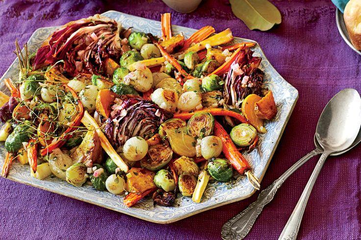 Our Favorite Thanksgiving Vegetable Side Dishes: Roasted Vegetable Salad with Apple Cider Vinaigrette
