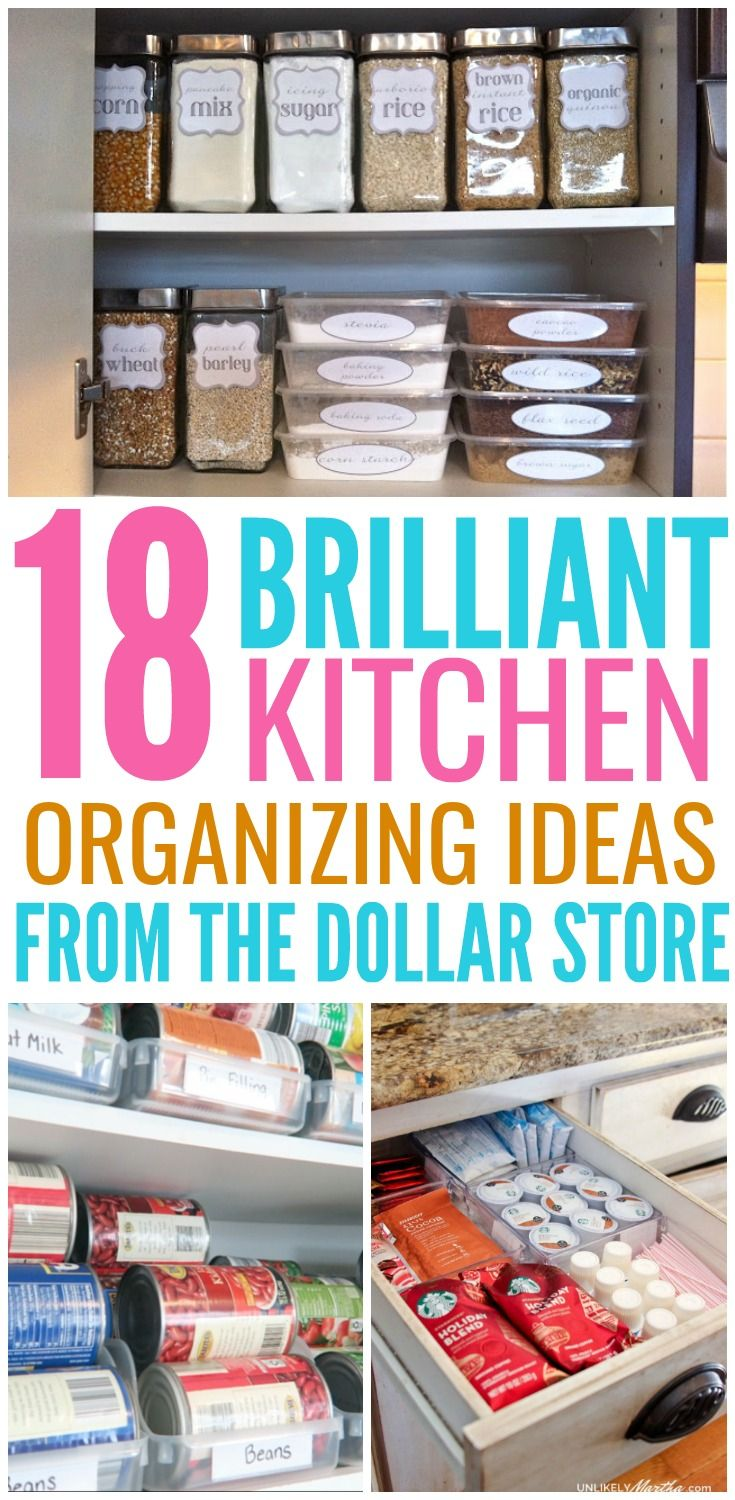 18 Genius Kitchen Organizing Ideas From The Dollar Store | Home