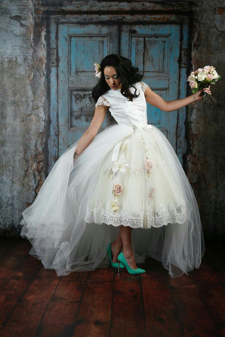 First the love of floral wedding gowns