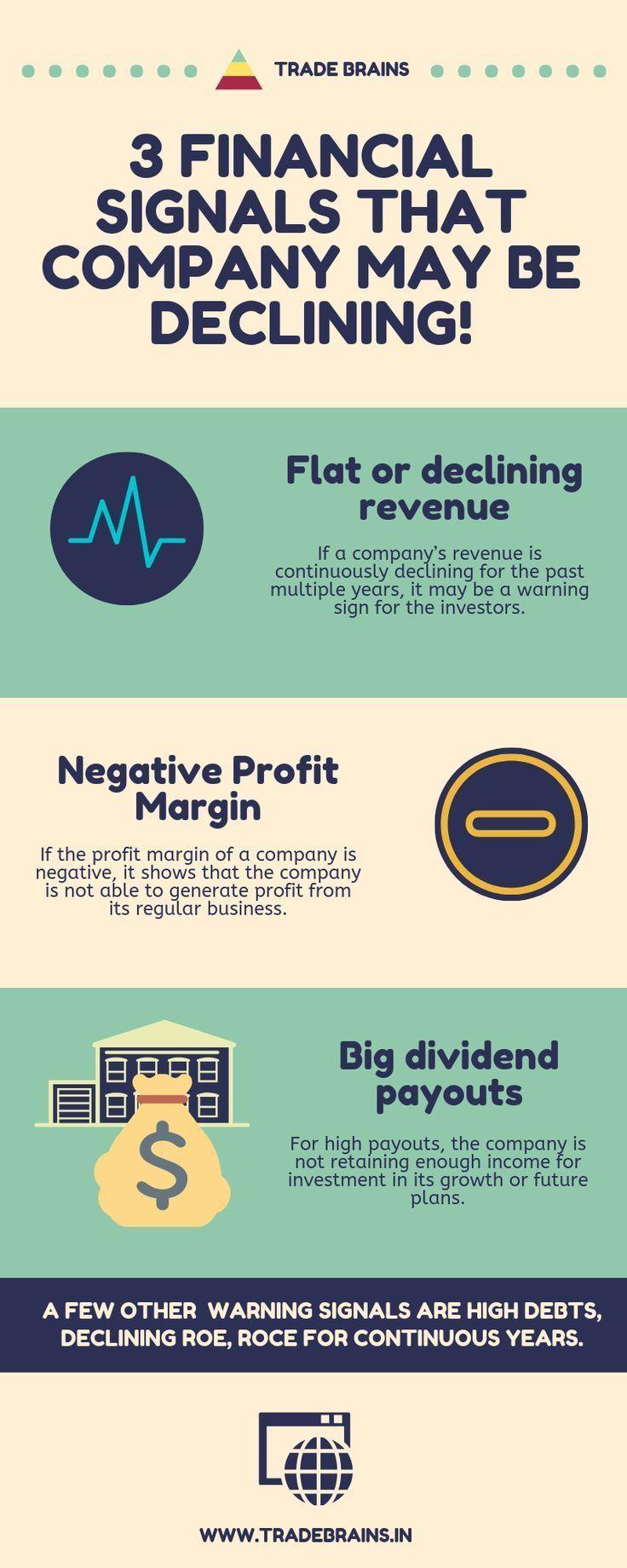 3 Financial Signals That A Company May Be Declining Stock Market Basics Stock Market Trade Finance