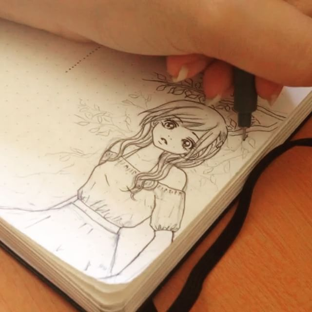 Me drawing this week layout decoration. Would you like other videos - maybe youtube videos - with step by step drawing?