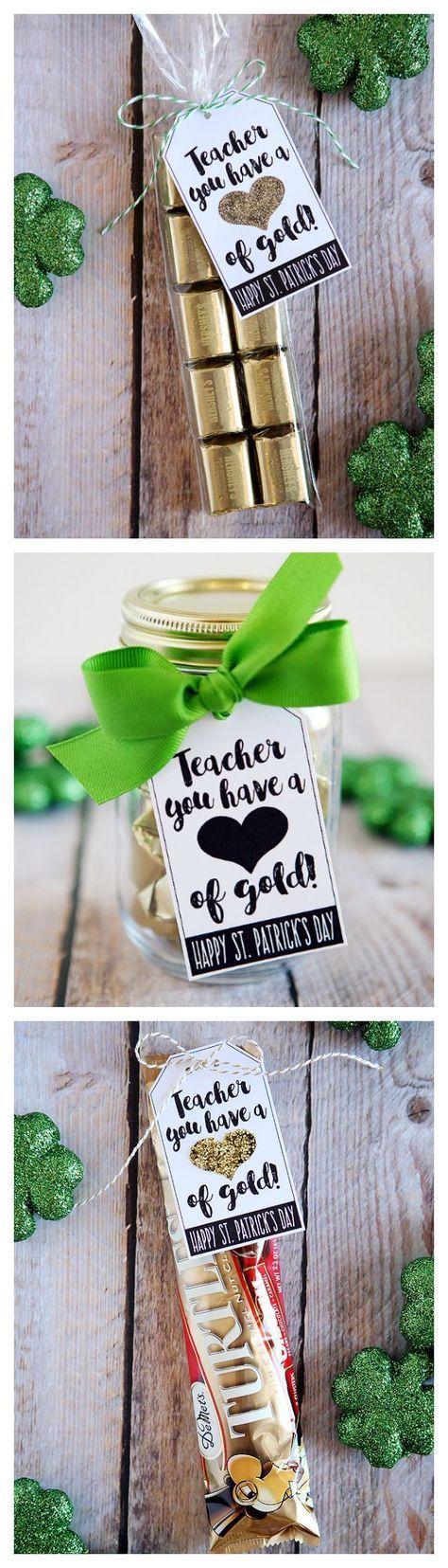 Lehrer, du hast ein Herz aus Gold Was für ein süßer St. Patrick's Day oder Lehrer-App …