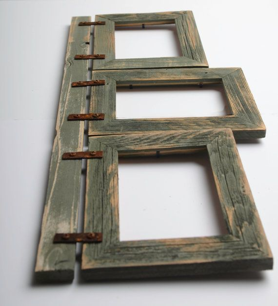 2 Barnwood Collage Sage Frame 3 5x7 Multi Opening by rustymill