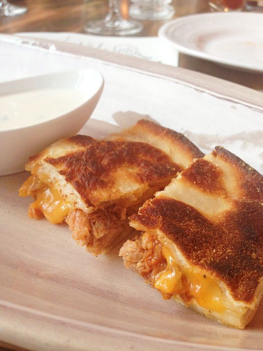 Pulled pork quesadillas made with naan | Big Bites | Pinterest
