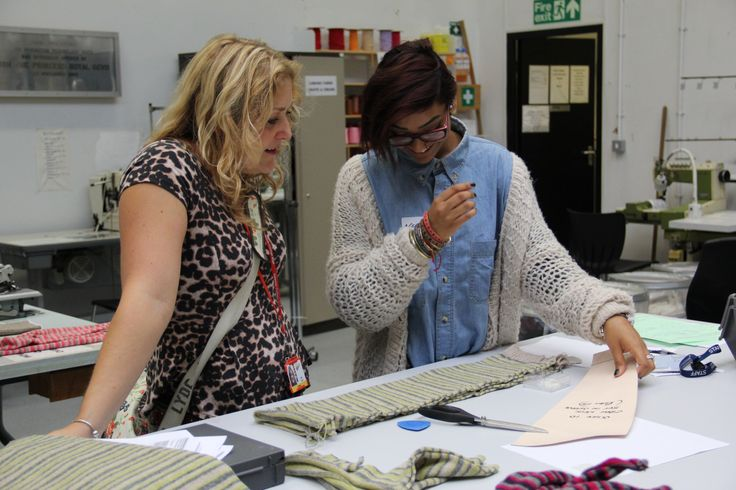 A student learning about #knitwear and #fabrics