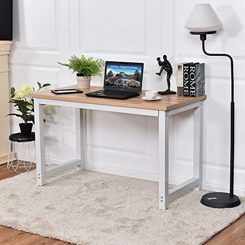 Study Chefjoy Vd 53853hwbk Computer Desk Pc Laptop Table Wood Workstation Home Office Furniture Wood Computer Desk Home Office Furniture Home Office Furniture Desk