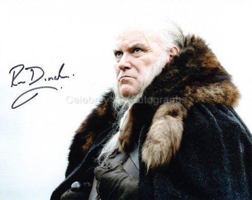 RON DONACHIE as Ser Rodrik Cassel - Game Of Thrones Genuine Autograph