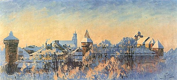 Julian Fałat - Hiver à Cracovie (1909)