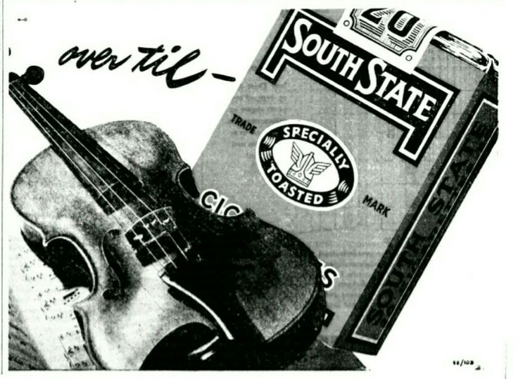 South State Cigaretter 1958