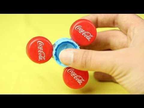 DIY Fidget Spinner WITHOUT BEARINGS! Using common household items! - YouTube