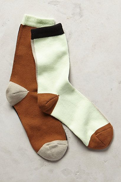 Mismatched Crew Socks #anthropologie
