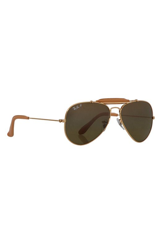 Ray-Ban Outdoorsman Sunglasses in Light Brown Leather