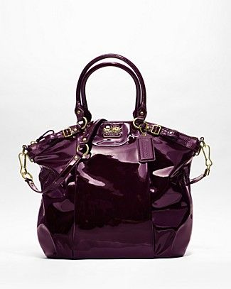 http://coachkristinelevated.webs.com Coach Madison Patent Lindsey Satchel in Plum.,COACH KRISTIN ELEVATED LEATHER SAGE ROUND SATCHEL.