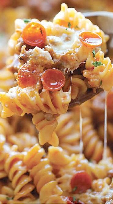 One Pot Pizza Pasta Bake. Just ok I won't make again nothing special pasta got kind of soft