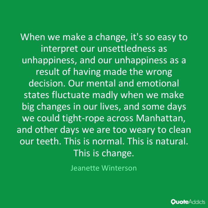 Change - by Jeanette Winterson