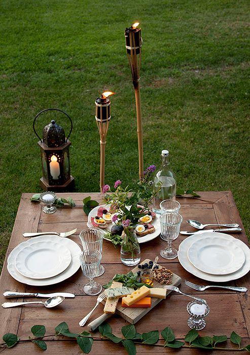 1000 ideas sobre cenas al aire libre en pinterest - Ideas para cenar en casa ...