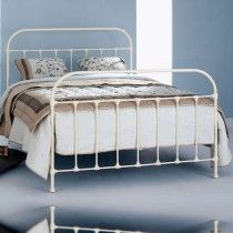 Tamworth Cast Bed - Queen Size Glossy Ivory