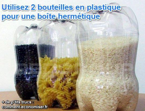 bouteille en plastique de rangement pour pâtes